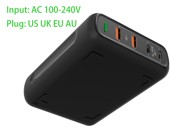 universal dual USB-C ports 150W laptop and phone charger station